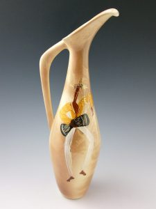 "A Jamaica pitcher by Marc Bellaire, 18"" h, $150-$175"