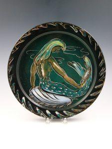 "Bellaire Mermaid platter, 12-1/4"" d, $175-$200"