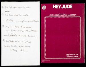 Lyrics to Hey Jude, $910,000, Julien's