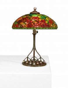 Tiffany table lamp, $206,250, Freeman's