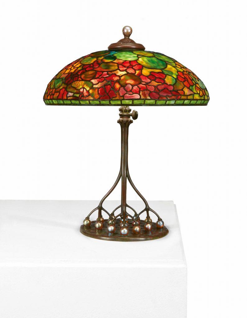 Tiffany table lamp, $206,250, Freeman's