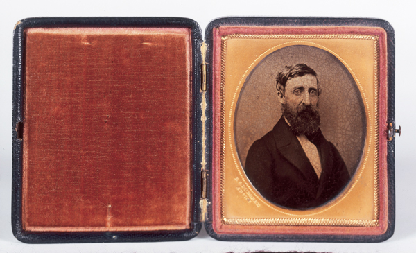 Figure 2: Henry D. Thoreau, ambrotype by Edward Sidney Dunshee, 1862. Th33b, Henry D. Thoreau, Gift of Mr. Walton Ricketson and Miss Anna Ricketson (1929). photo courtesy of the Concord Museum