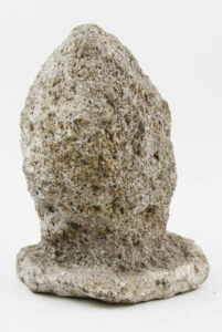 Figure 6: Fragment of granite, collected 19th century. Th56, Collection of the Concord Museum. photo courtesy of the Concord Museum