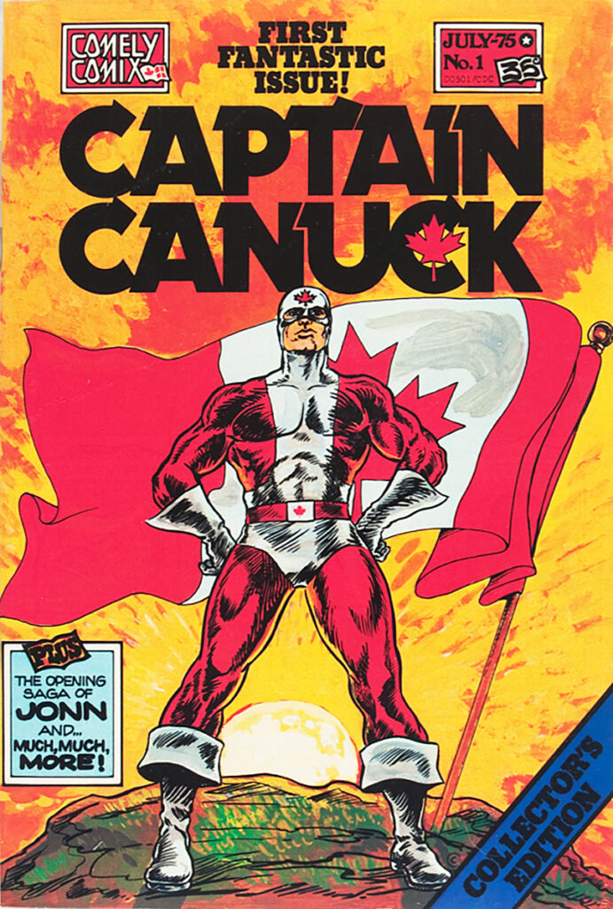 Created by cartoonist Ron Leishman and artist-writer Richard Comely, Captain Canuck first appeared in Captain Canuck #1 (July 1975), published by Comely Comix.