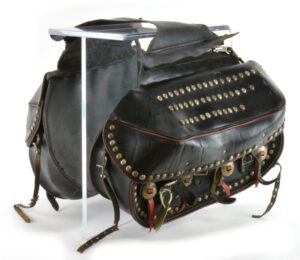 Vintage hand made motorcycle saddlebags