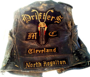 Classic vintage motorcycle club leather vest