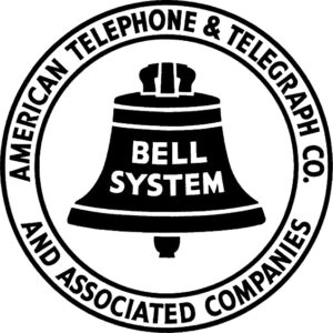 The final version of the Bell logo, created by Saul Bass and adopted on October 12, 1969 by Western Electric Company