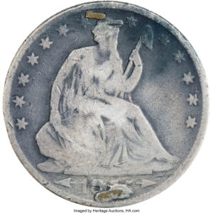 Right: The obverse of the  Heritage-auctioned coin.  Photo: Heritage Auctions, HA.com