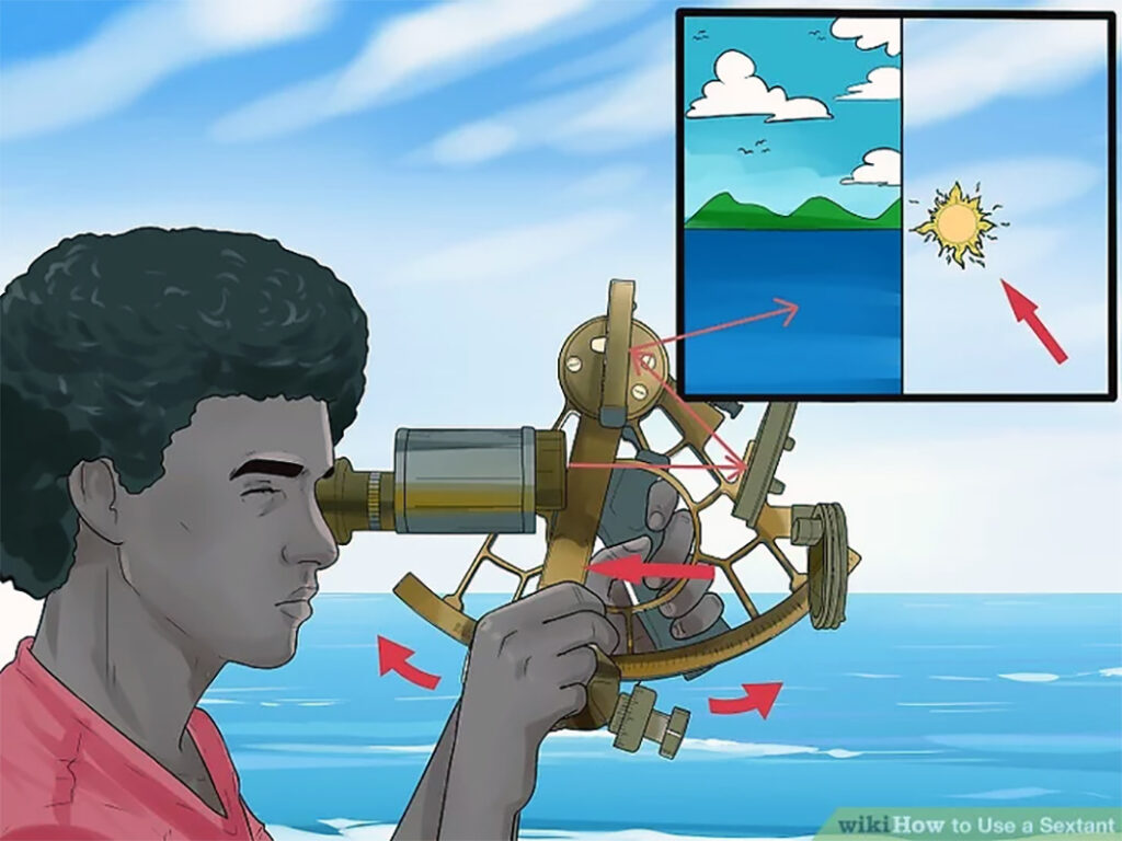 How to use a sextant? Wikihow.com offers a step by step guide with visuals, Davis instruments has a downloadable manual on their website, and there are several other online resources Photo: WikiHow.com