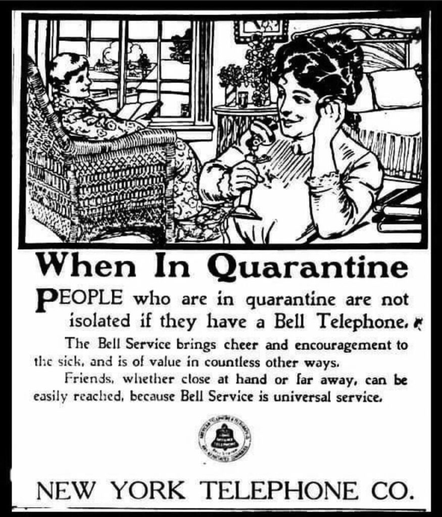 Timely ad: Bell Telephone ad, November 17, 1910