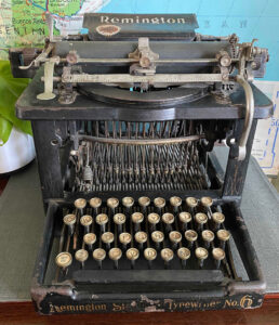 1956 Vintage Remington Travel-Riter Portable Typewriter, Working with Case selling for $120 on Etsy
