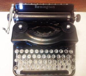 Remington Rand Model 1 Portable Typewriter,  1930's, selling for $499.99 on eBay