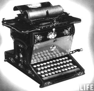 Remington No. 1 typewriter, photo: LIFE photo archive
