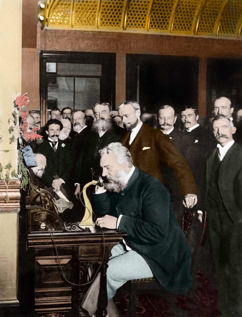 Alexander Graham Bell made the first long-distance telephone call in 1892, reaching Chicago from New York photo: Stefano Bianchetti
