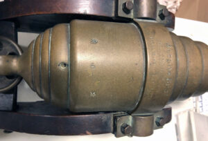 A bronze salute cannon, or yacht cannon,  from the late 1800s, $1,000-$2,000.