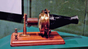 Alexander Graham Bell's first telephone. Kept safely at the Smithsonian Institute in Washington, D.C. photo: John Douglas Parran