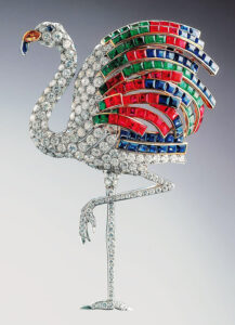 Cartier's flamingo brooch, made in May 1940 for Wallis Simpson, Duchess of Windsor