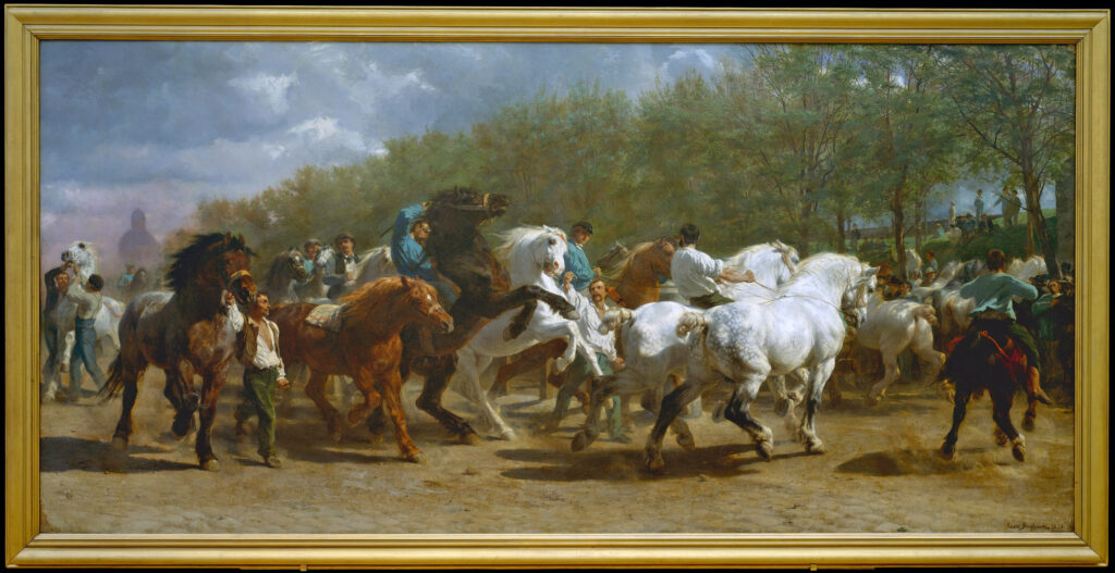 Rosa Bonheur (1822-1899) The Horse Fair, 1852–55, Oil on canvas, Metropolitan Museum of Art