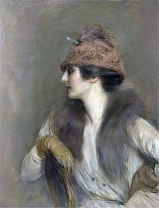 Portrait of Jeanne Toussaint by Paul César Helleu