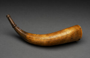 Stephen Parks Powder Horn, c.1747. Concord Museum Collection, Anonymous Gift; Gift of the Cummings Davis Society; Gift of the Philip and Betsey C. Caldwell Foundation; Gift of Mr. Charles N. Grichar (2007)