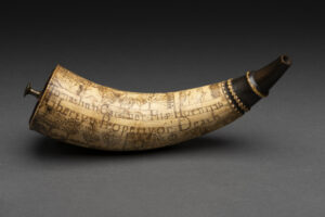 Siege of Boston powder horn, c.1776. Concord Museum Collection, Gift of Mrs. Robert M. Bowen (1972).