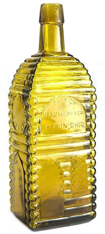 An American Life Bitters bottle made in Ohio circa 1865-1875 sold for $42,000 in an online-only auction held Sept. 21-28 by Glass Works Auction