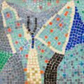 A rare and unusual mosaic tabletop tile by Roy Lichtenstein (American, 1923-1997)