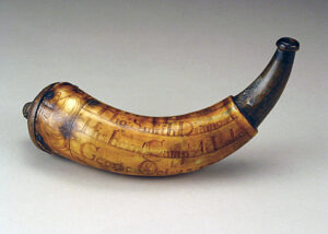 Thomas Smith Diamond powder horn, October 23, 1756. Historic Deerfield, The William H. Guthman Collection of American Engraved Powder Horns
