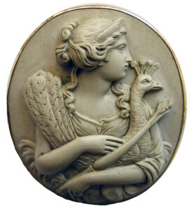Gorgeous Antique Lava Cameos: Hera, probably made for the tourist trade, Victorian/Edwardian. Brits and Americans on their Grand Tour typically purchased these as souvenirs