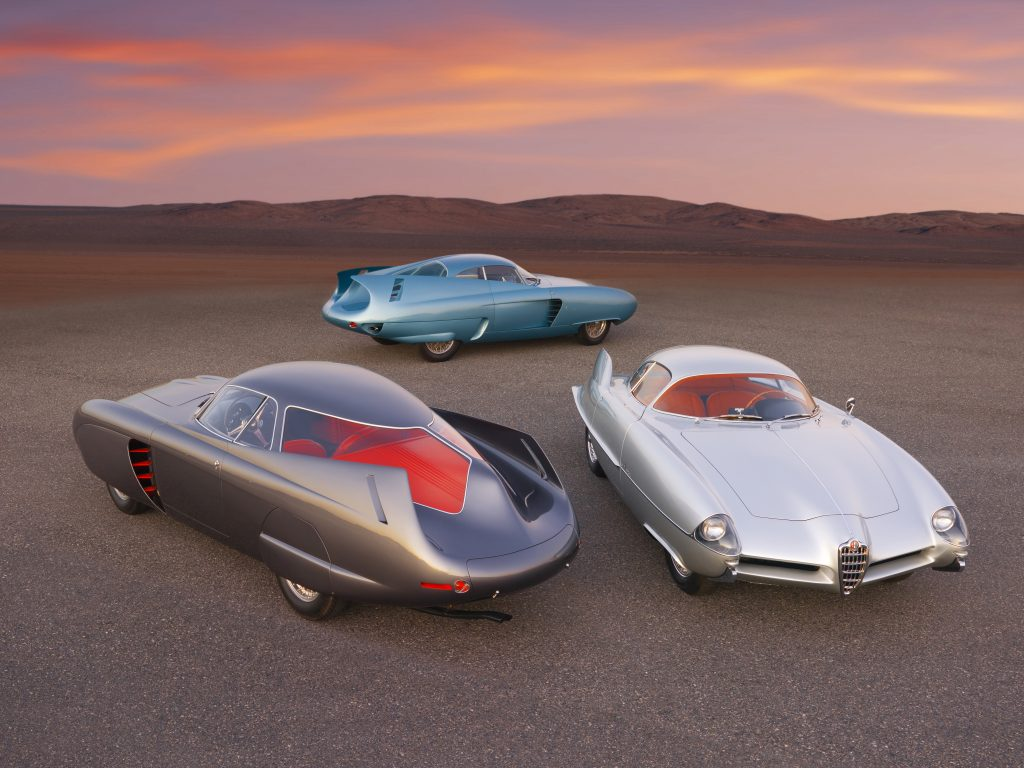 Three Alfa Romeo B.A.T. concept cars together brought $14.8 million in sales of Contemporary and Impressionist & Modern Art held October 28th by Sotheby's