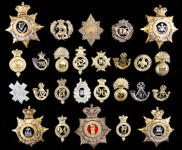 Examples from a collection of 800 military badges amassed by one man has been unearthed to remember the lost regiments of the British Army that sold at auction in Great Britain in 2016