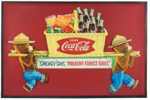 Coca-Cola litho sign, $6,000, Rich Penn
