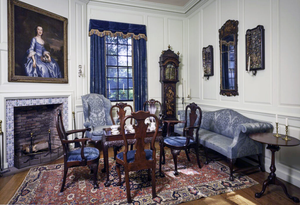 Note the silent sidetable next to the couch in the  Early American room at Winterthur, the Readbourne Parlor with 18th century woodwork from Maryland