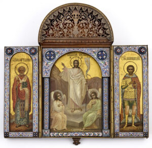 Russian triptych icon, $25,000, Doyle