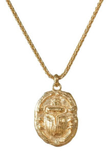 Reproduction of an Ancient Scarab Gold Talisman Necklace  selling for $195  at commonera.com