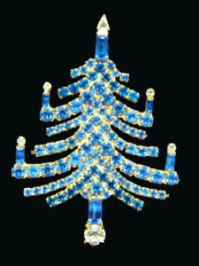 Candle tree in blue and gold from Gale & Friends, $30-50