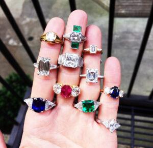 Various gem rings