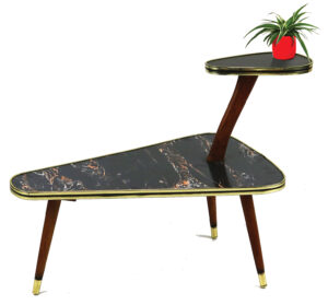 1960s vintage midcentury plant stand 2-tier side table