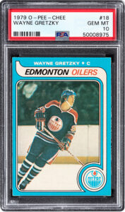 Wayne Gretzky 1979 rookie card, $1.29 million, Heritage Auctions