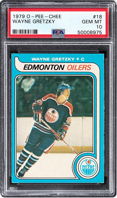 Wayne Gretzky 1979 rookie card, $1.29 million, Heritage Auctions