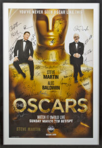 Lot 740: Steve Martin Oscars poster signed by celebrity attendees at The 2010 Academy Awards ceremony