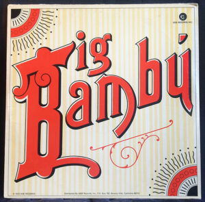 """Cheech and Chong and Bib Bambu, 1972 This album came complete with a """"giant"""" rolling paper for personal use, and evenutually started a business producing an organic hemp-based rolling paper under the name """"Big Bambu."""" The signed paper shown is currently selling for $140 at eBay"""