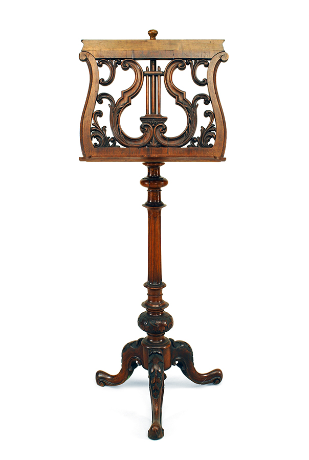 French Victorian Lyre Music Stand