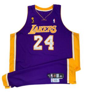Kobe Bryant road jersey, $337,334, Grey Flannel