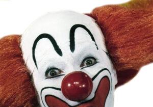 Larry Harman portraying Bozo the Clown
