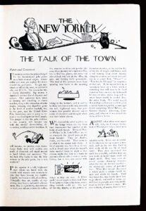 The Talk of the Town, September 13, 1930
