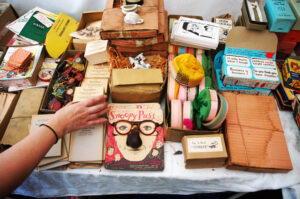 Vintage gag gifts at the Brimfield Antiques Flea Market