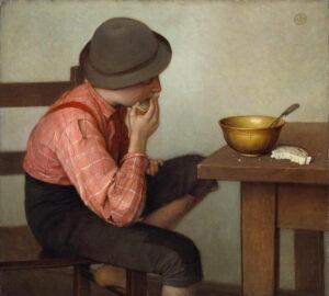 Ozias Leduc, Boy with Bread, 1892 oil on canvas