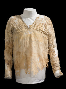 The Tarkhan Dress has been radiocarbon dated to approximately 5,000 years of age. Photo: © Mary Hinkley, The Petrie Museum of Egyptian Archaeology