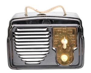 Two examples of chrome radios, USA, 1950